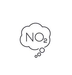 No2 nitrogen dioxide line icon vector