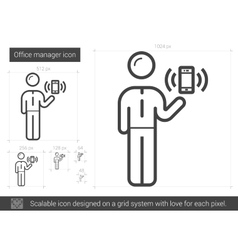 Office manager line icon vector image
