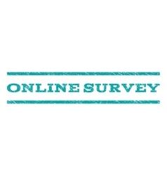 Online Survey Watermark Stamp vector image