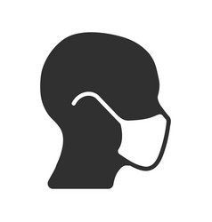 Protective medical mask icon shape epidemic pand vector