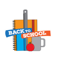 school supplies back to school concept image vector image
