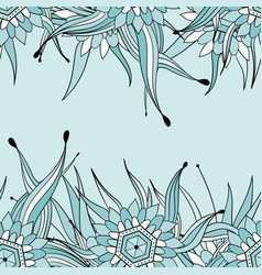 Seamless pattern background with abstract leaves vector