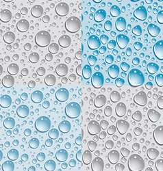 Set of 4 Seamless background drops of water vector image