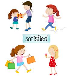 Set of satisfied people vector