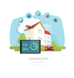 Smart home flat smart house vector image