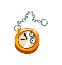 Steampunk pocket watch antique mechanical device vector