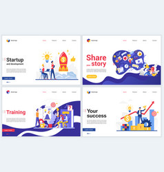 Successful startup business course vector