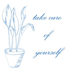 take care of yourself concept vector image