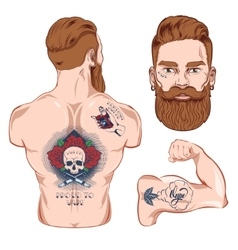 Tattooed Character Images vector image