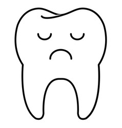 tooth character isolated icon vector image