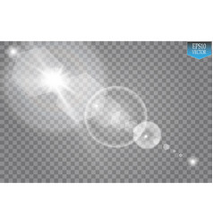 Transparent sunlight special lens flare light vector