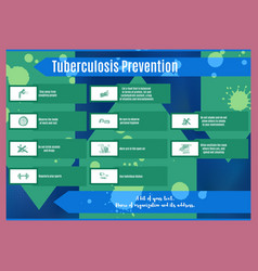 Tuberculosis blue bright brochure about disease vector