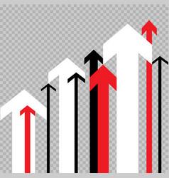 Up arrow move to success transparent vector