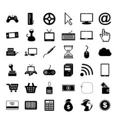 Videogame icon set design vector