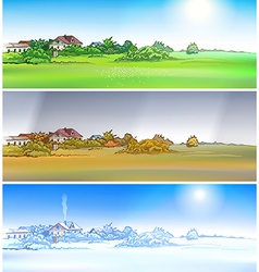 village season vector image
