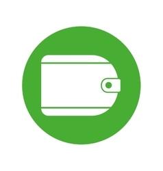 Wallet money travel green button vector