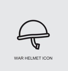 War helmet icon vector