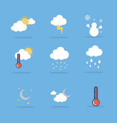 Weather set flat vector