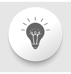 Web icon - lamp on white background vector image