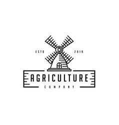 windmill logo design template vector image