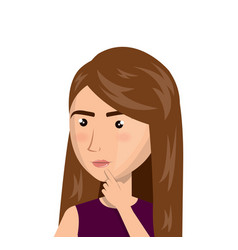woman person thinking icon vector image