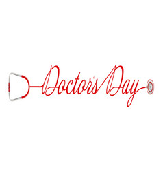 world doctor s day logo with stethoscope in a vector image