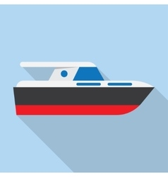 Yacht boat sign icon vector