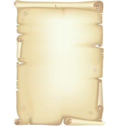 Old scroll vector image vector image