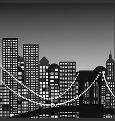 seamless city skyline aerial vector image