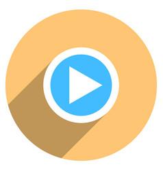 arrow sign play icon circle button vector image vector image