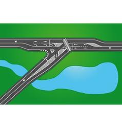 Crossroad vector image