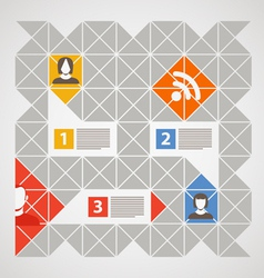 Modern color social media content vector image vector image