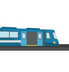 Modern high speed train vector image vector image