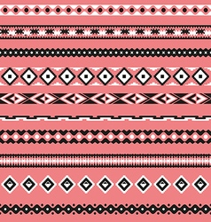 seamless pattern borders tribal set vector image