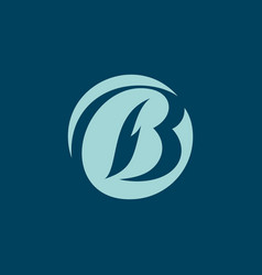 Sign the letter b vector