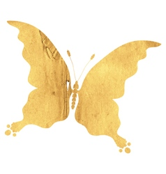 Silhouette vintage butterfly vector image