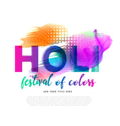 spring holi festival colorful background design vector image vector image