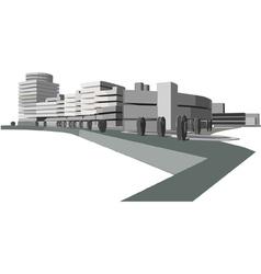 urban waterfront vector image