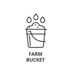 farm bucket line icon outline sign linear symbol vector image vector image
