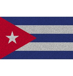 Flags Cuba on denim texture vector image
