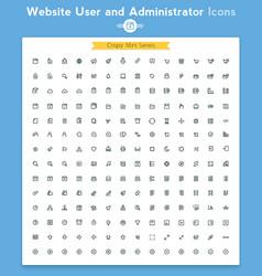 line universal webpage tiny icon set vector image vector image