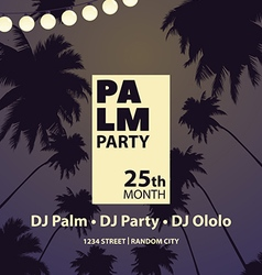 Party among palm trees vector image