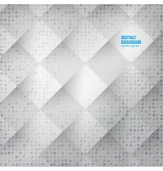 Abstract background Squares white vector image