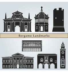 Bergamo landmarks and monuments vector image vector image