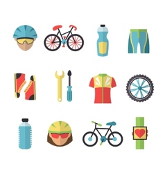 Bicycle Sports Icons Set vector image
