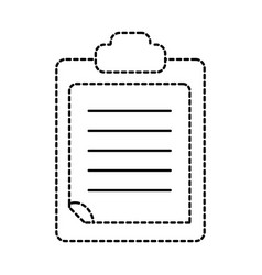 dotted shape check list business document in the vector image