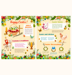easter spring holidays brochure template design vector image