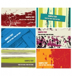 grunge business cards vector image vector image
