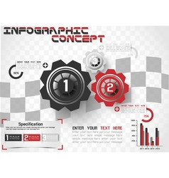INFOGRAPHIC MODERN STYLE GEAR vector image