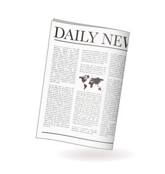 newspaper daily vector image